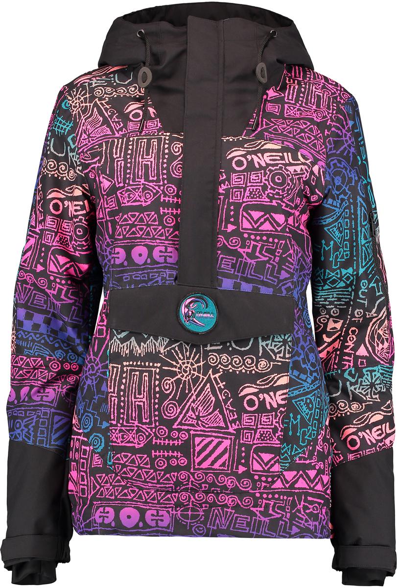 Куртка женская ONeill Pw 88 Frozen Wave Anorak, цвет: черный, мультиколор. 7P5050-9900. Размер M (46/48)7P5050-9900Женская куртка ONeill выполнена из высококачественного материала. Утепленная куртка с капюшоном и длинными рукавами застегивается на молнию и имеет ветрозащитный клапан. Рукава дополнены внутренними трикотажными манжетами. Спереди расположены карманы.