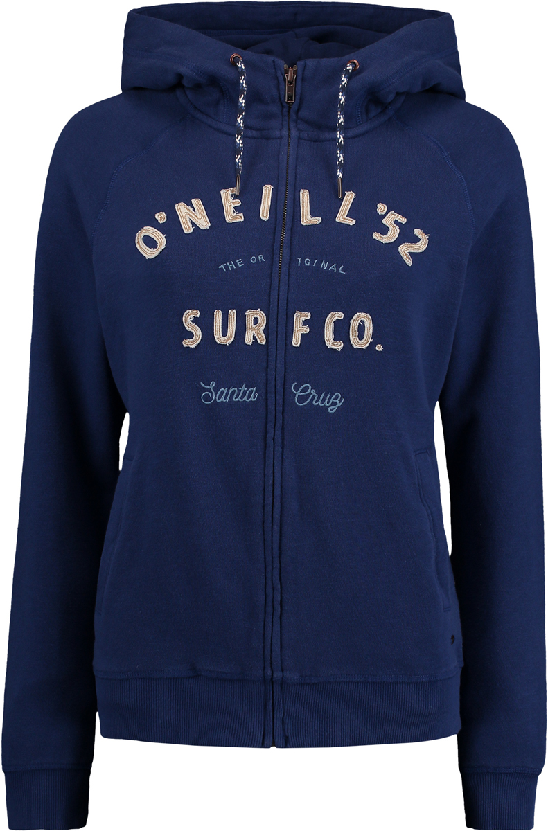 Худи женское ONeill Lw Easy Fantastic Zip Hoodie, цвет: синий. 7P6400-5128. Размер XL (50/52)7P6400-5128