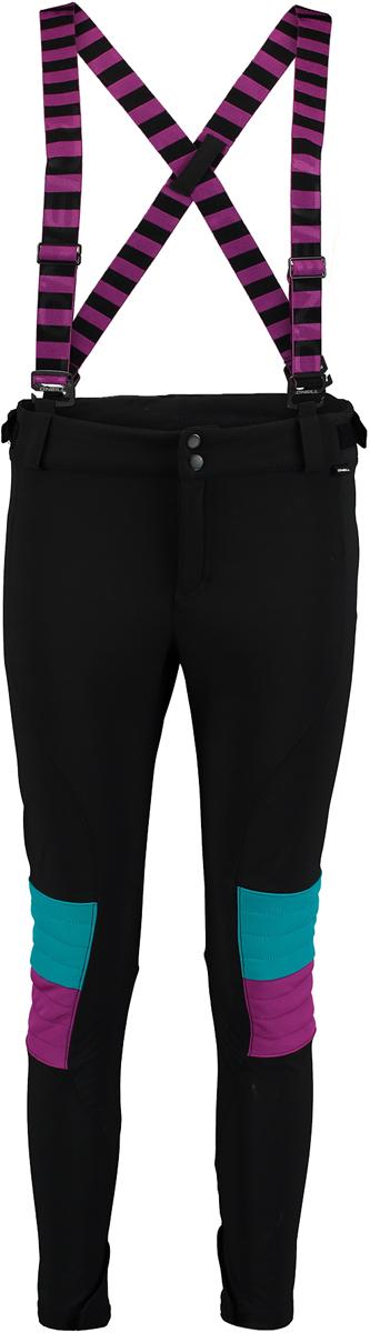 Брюки утепленные женские ONeill Pw 76 Fashion Focus Slim Pant, цвет: черный. 7P8018-9010. Размер L (48/50)7P8018-9010Утепленные женские брюки от ONeill со съемными подтяжками выполнены из высококачественного материала. Модель зауженного кроя в поясе застегивается на кнопки и имеет ширинку на молнии.