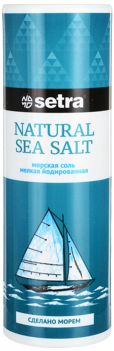 Соль Setra морская мелкая йодированная, 250 г2879Морская соль - соль самого высокого качества. Она образуется выпариванием чистейшей морской воды под воздействием солнца и ветра. Такой мягкий, естественный способ получения соли способствует сохранению в ней всех минералов и микроэлементов, которые придают морской соли своеобразный вкус и аромат. Морская соль, обогащенная йодом, используется в кулинарии, как обычная. Однако она гораздо полезнее для организма, так как богата минеральными веществами. Способствует правильному функционированию щитовидной железы.