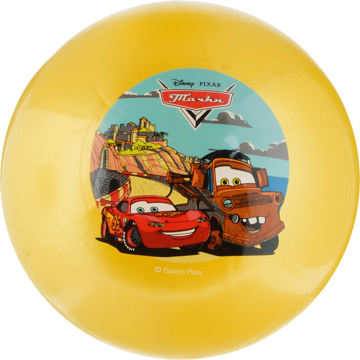 Играем вместе Мяч Тачки цвет желтый 23 см