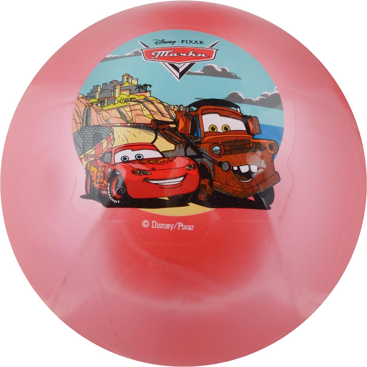 Играем вместе Мяч Тачки цвет розовый 23 см