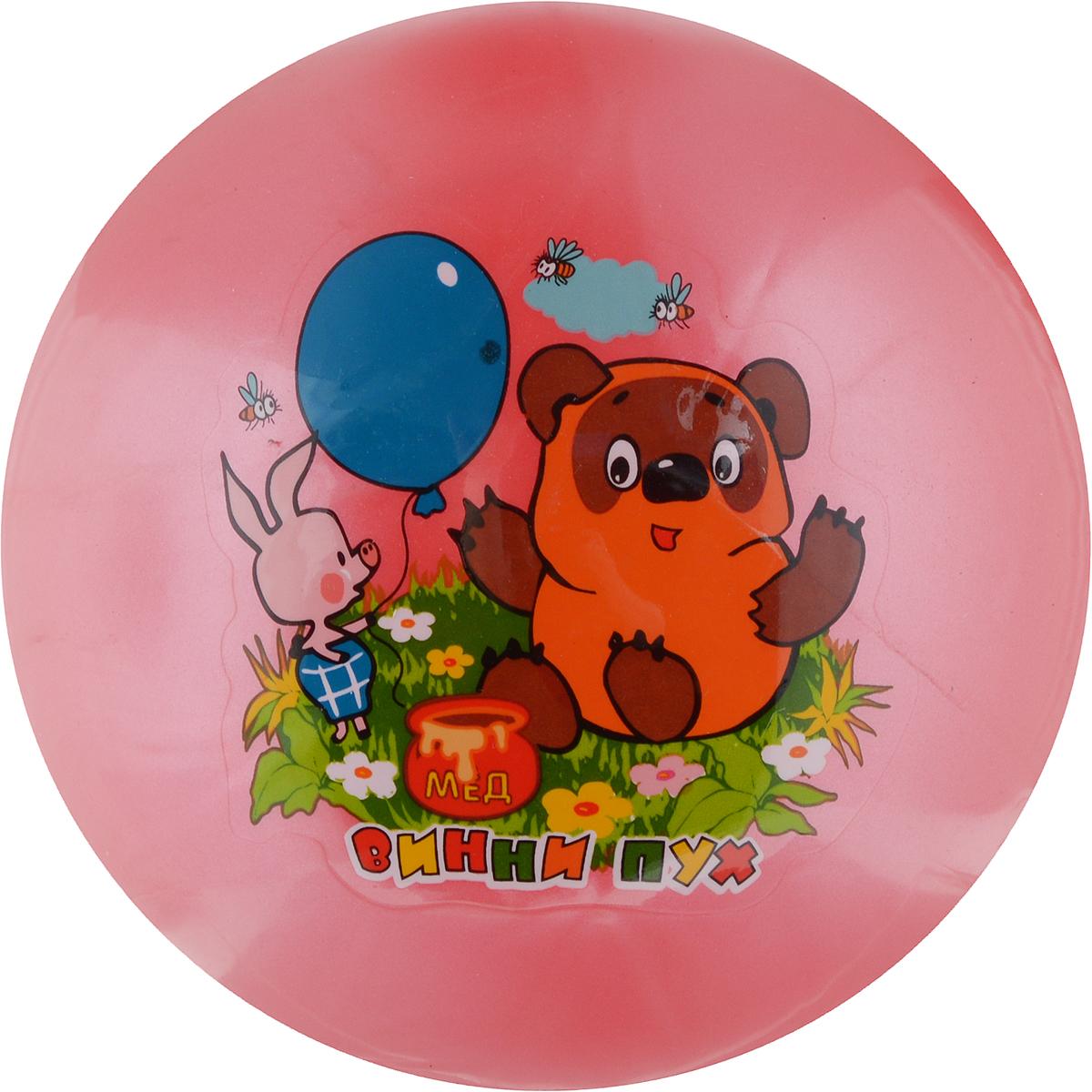 Играем вместе Мяч Винни-Пух цвет розовый 23 см