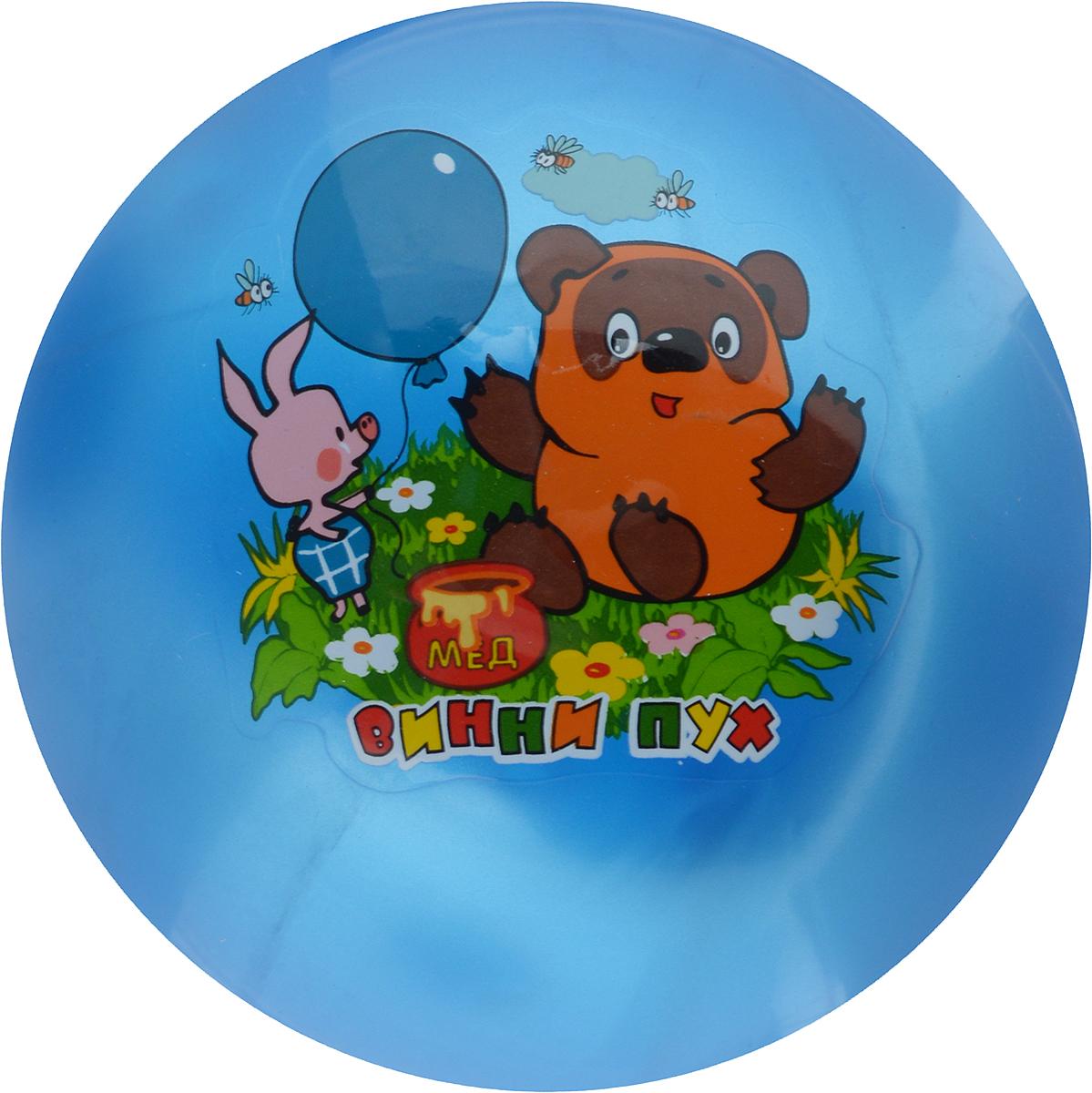 Играем вместе Мяч Винни-Пух цвет синий 23 см