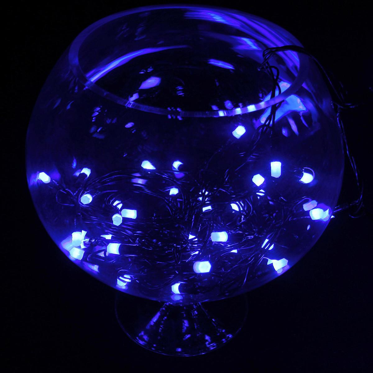 Гирлянда светодиодная Luazon Метраж. Кристаллы, уличная с насадкой, 8 режимов, 40 ламп, 220 V, 5 м, цвет: синий. 185519185519Светодиодные гирлянды, ленты и т.д. — это отличный вариант для новогоднего оформления интерьера или фасада. С их помощью помещение любого размера можно превратить в праздничный зал, а внешние элементы зданий, украшенные ими, мгновенно станут напоминать очертания сказочного дворца. Такие украшения создают ауру предвкушения чуда. Деревья, фасады, витрины, окна и арки будто специально созданы, чтобы вы украсили их светящимися нитями.