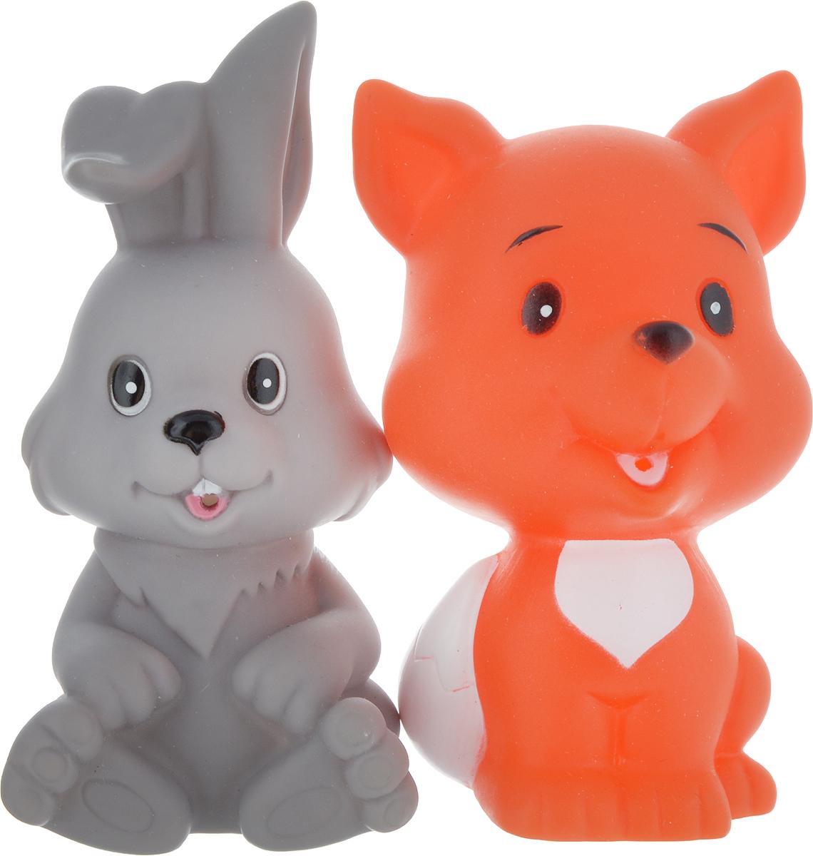 Играем вместе Набор игрушек для ванной Заяц и лиса играем вместе набор игрушек для ванной корабль и самолет