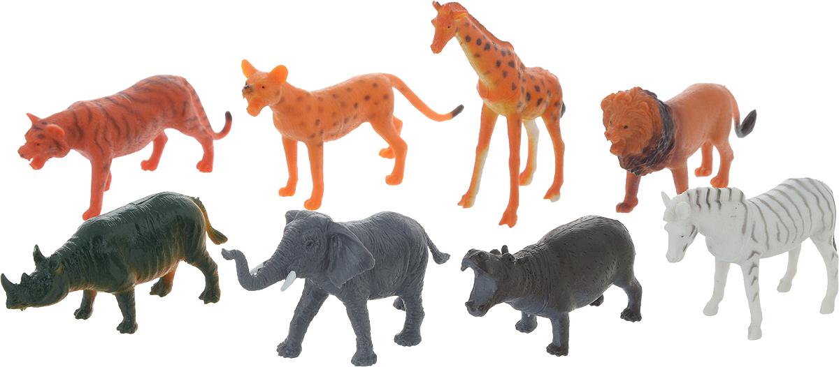 Играем вместе Набор фигурок Дикие животные 8 шт играем вместе набор для купания русалочка играем вместе
