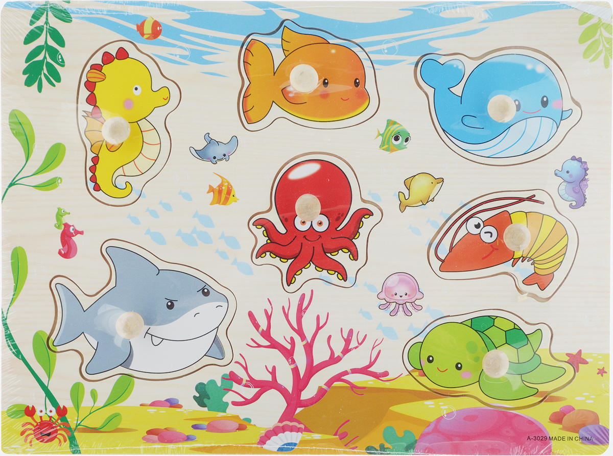 Фабрика Фантазий Пазл для малышей Морские обитатели 2 флексика пазл для малышей геометрия цвет основы красный