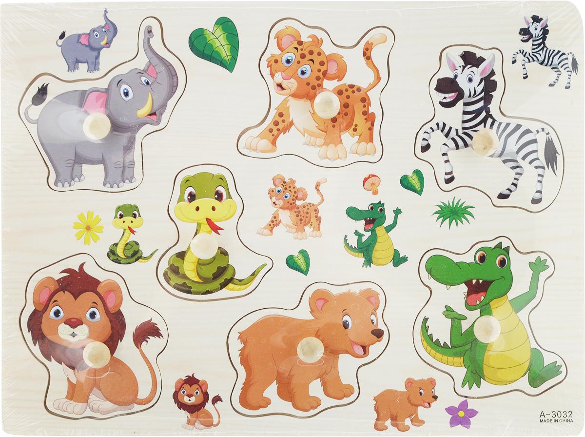 Фабрика Фантазий Пазл для малышей Животные Вид 4 фабрика фантазий пазл для малышей рамка вкладыш животные