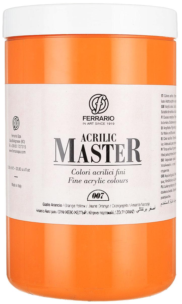 Ferrario Краска акриловая Acrilic Master цвет №07 оранжевый желтый BM0979E007BM0979E007Акриловые краски серии ACRILIC MASTER итальянской компании Ferrario. Универсальны в применении, так как хорошо ложатся на любую обезжиренную поверхность: бумага, холст, картон, дерево, керамика, пластик. При изготовлении красок используются высококачественные пигменты мелкого помола. Краска быстро сохнет, обладает отличной укрывистостью и насыщенностью цвета. Работы, сделанные с помощью ACRILIC MASTER, не тускнеют и не выгорают на солнце. Все цвета отлично смешиваются между собой и при необходимости разбавляются водой. Для достижения необходимых эффектов применяют различные медиумы для акриловой живописи. В серии представлено 50 цветов.