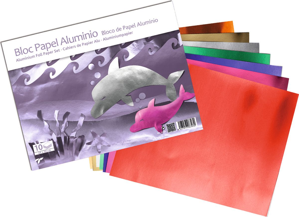 Sadipal Бумага фольгированная 50 листов06303Дизайнерская бумага с фольгированным покрытием прекрасно подойдет для дизайнерских работ, декоративных поделок и украшений. Бумага с фольгированным покрытиемвыполнена из высококачественных материалов, отличается высокой светостойкостью.