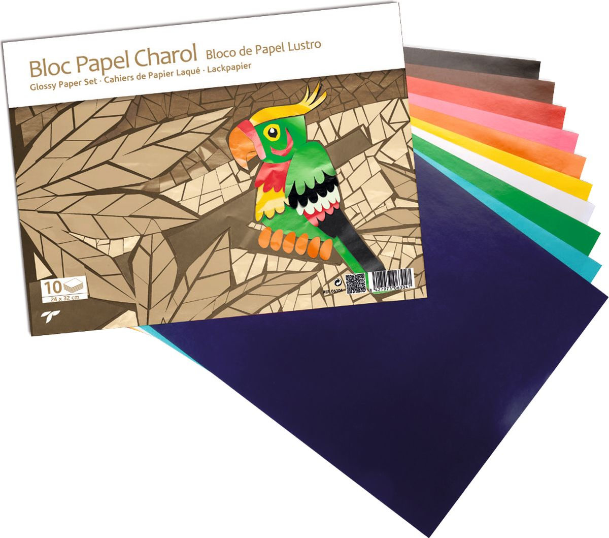 Sadipal Бумага цветная глянцевая 50 листов06304Большая цветовая палитра глянцевой бумаги Sadipal не оставит равнодушным ни одного любителя декоративных поделок. Она приятная на ощупь, с ней легко работать и вырезать. Глянцевая бумага идеально подходит для изготовления открыток, карнавальных костюмов, поделок для праздников.