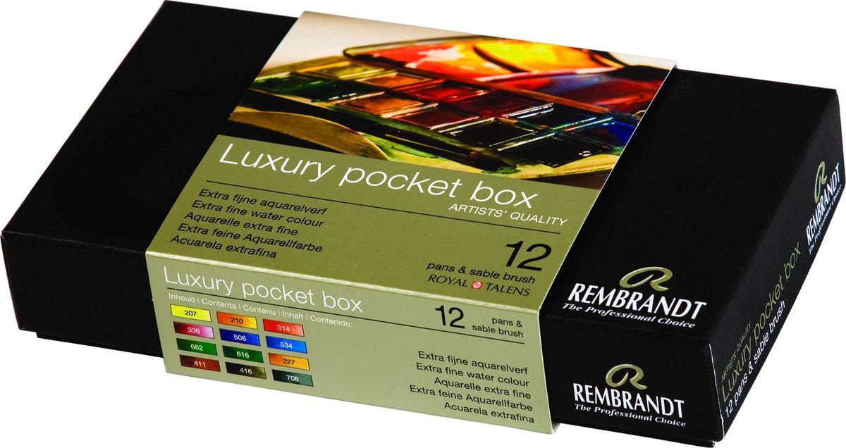 Royal Talens Набор акварельных красок Rembrandt 12 цветов 058086145808614Акварельные краски Rembrandt – это профессиональная акварель, обладающая всеми качествами, которые необходимы современным художникам. Каждый цвет состоит лишь из одного сконцентрированного пигмента и гуммиарабика (аравийской камеди), созданного по уникальной технологии. Краски отличаются высокой степенью светостойкости, прозрачности, обеспечивают отличную цветопередачу. Акварель Rembrandt хорошо ложится на бумагу, позволяя художнику контролировать расход краски с любой сложной фактурой.Уровень Artist.