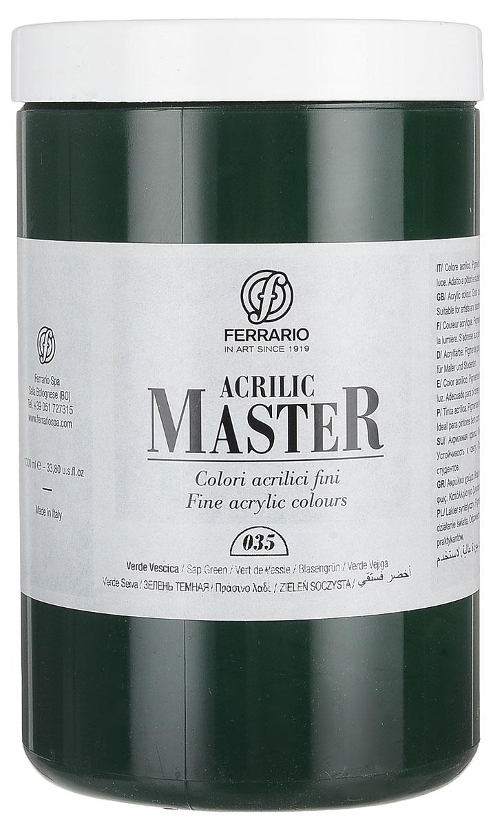 Ferrario Краска акриловая Acrilic Master цвет №35 зелень темная BM0979E035BM0979E035Акриловые краски серии ACRILIC MASTER итальянской компании Ferrario. Универсальны в применении, так как хорошо ложатся на любую обезжиренную поверхность: бумага, холст, картон, дерево, керамика, пластик. При изготовлении красок используются высококачественные пигменты мелкого помола. Краска быстро сохнет, обладает отличной укрывистостью и насыщенностью цвета. Работы, сделанные с помощью ACRILIC MASTER, не тускнеют и не выгорают на солнце. Все цвета отлично смешиваются между собой и при необходимости разбавляются водой. Для достижения необходимых эффектов применяют различные медиумы для акриловой живописи. В серии представлено 50 цветов.