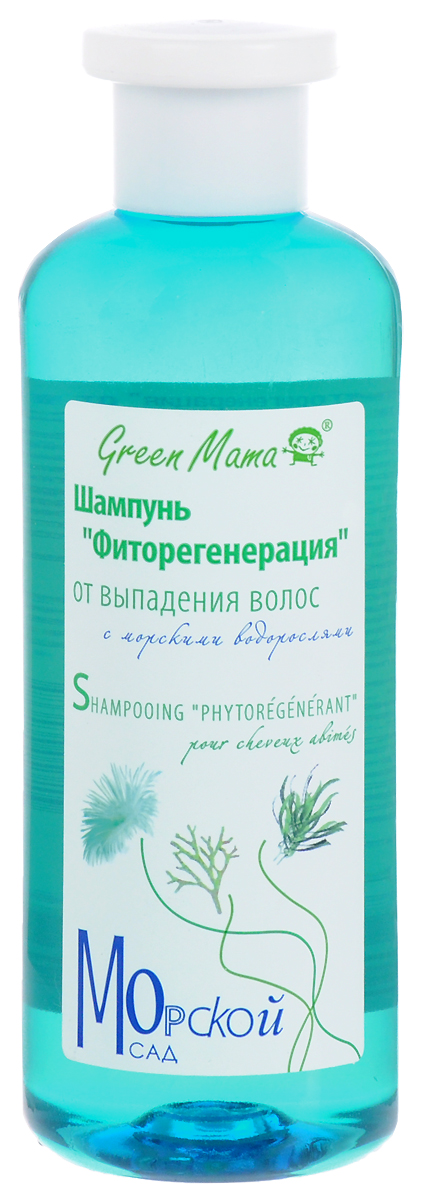 """Шампунь Green Mama """"Фиторегенерация"""" от выпадения волос, с морскими водорослями, 400 мл"""