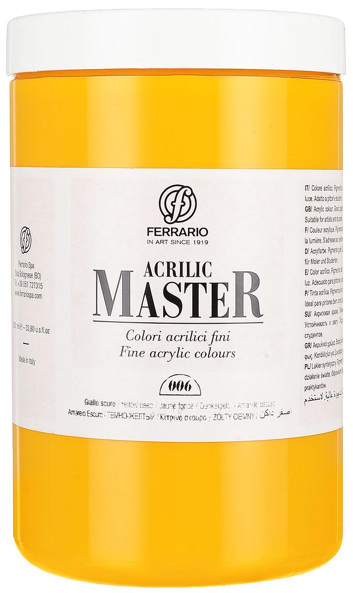Ferrario Краска акриловая Acrilic Master цвет №06 желтый темный BM0979E006BM0979E006Акриловые краски серии ACRILIC MASTER итальянской компании Ferrario. Универсальны в применении, так как хорошо ложатся на любую обезжиренную поверхность: бумага, холст, картон, дерево, керамика, пластик. При изготовлении красок используются высококачественные пигменты мелкого помола. Краска быстро сохнет, обладает отличной укрывистостью и насыщенностью цвета. Работы, сделанные с помощью ACRILIC MASTER, не тускнеют и не выгорают на солнце. Все цвета отлично смешиваются между собой и при необходимости разбавляются водой. Для достижения необходимых эффектов применяют различные медиумы для акриловой живописи. В серии представлено 50 цветов.