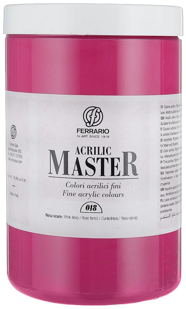 Ferrario Краска акриловая Acrilic Master цвет №18 розовый темный BM0979E018BM0979E018Акриловые краски серии ACRILIC MASTER итальянской компании Ferrario. Универсальны в применении, так как хорошо ложатся на любую обезжиренную поверхность: бумага, холст, картон, дерево, керамика, пластик. При изготовлении красок используются высококачественные пигменты мелкого помола. Краска быстро сохнет, обладает отличной укрывистостью и насыщенностью цвета. Работы, сделанные с помощью ACRILIC MASTER, не тускнеют и не выгорают на солнце. Все цвета отлично смешиваются между собой и при необходимости разбавляются водой. Для достижения необходимых эффектов применяют различные медиумы для акриловой живописи. В серии представлено 50 цветов.