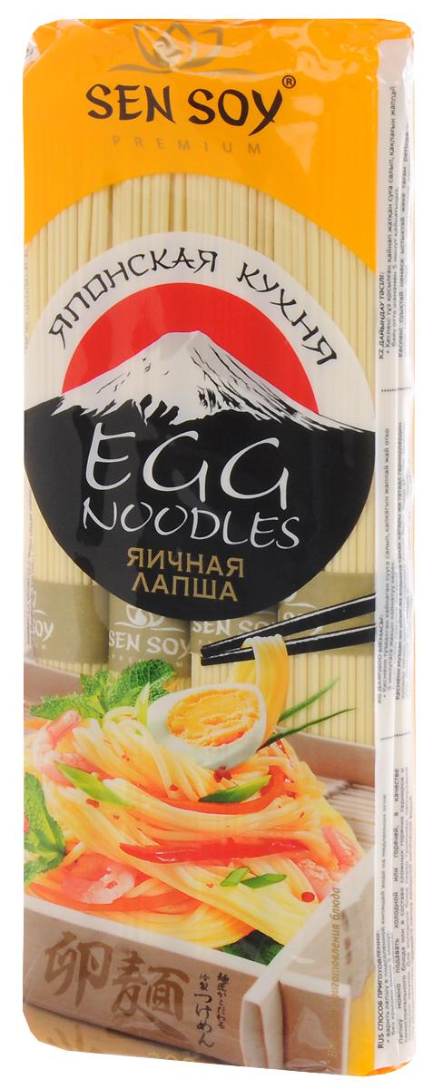 Sen Soy Premium Лапша яичная Egg Noodles, 300 г granmulino premium лапша узкая длинная 400 г