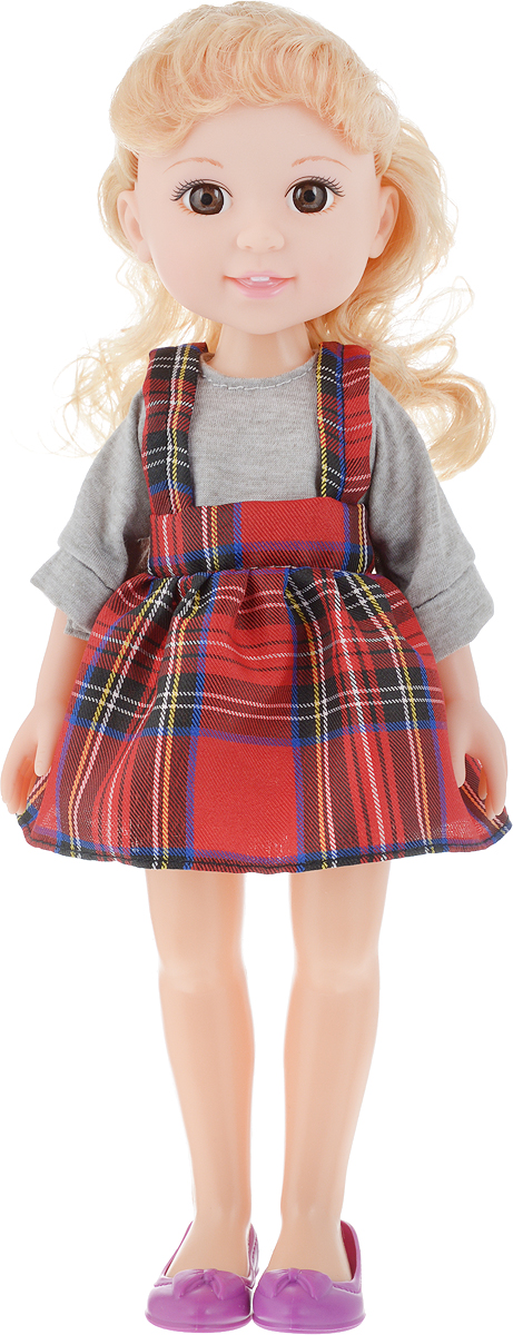 Yako Кукла Jammy блондинка цвет наряда серый красный куклы bonna кукла jammy 25 см невеста