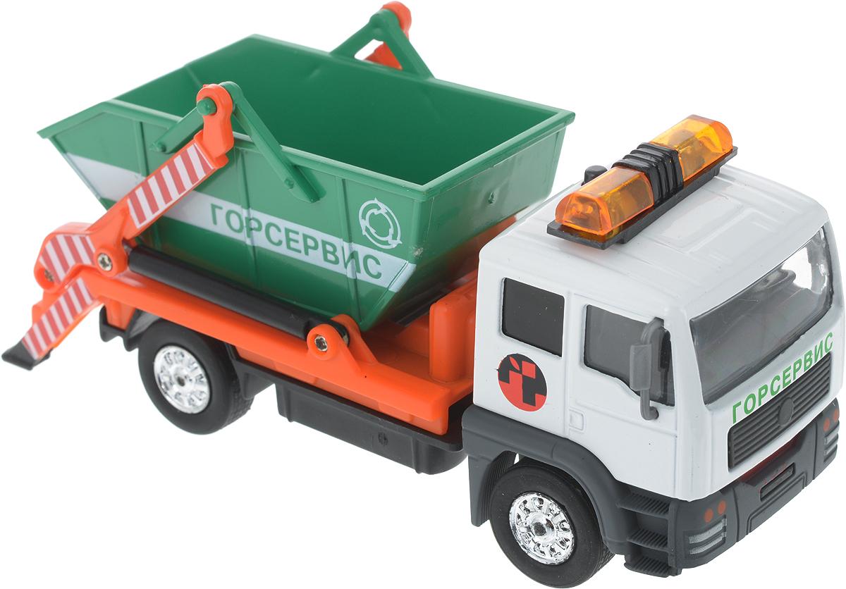 ТехноПарк Машинка инерционная Мусоровоз мусоровоз orion камакс мусоровоз 765 разноцветный в ассортименте
