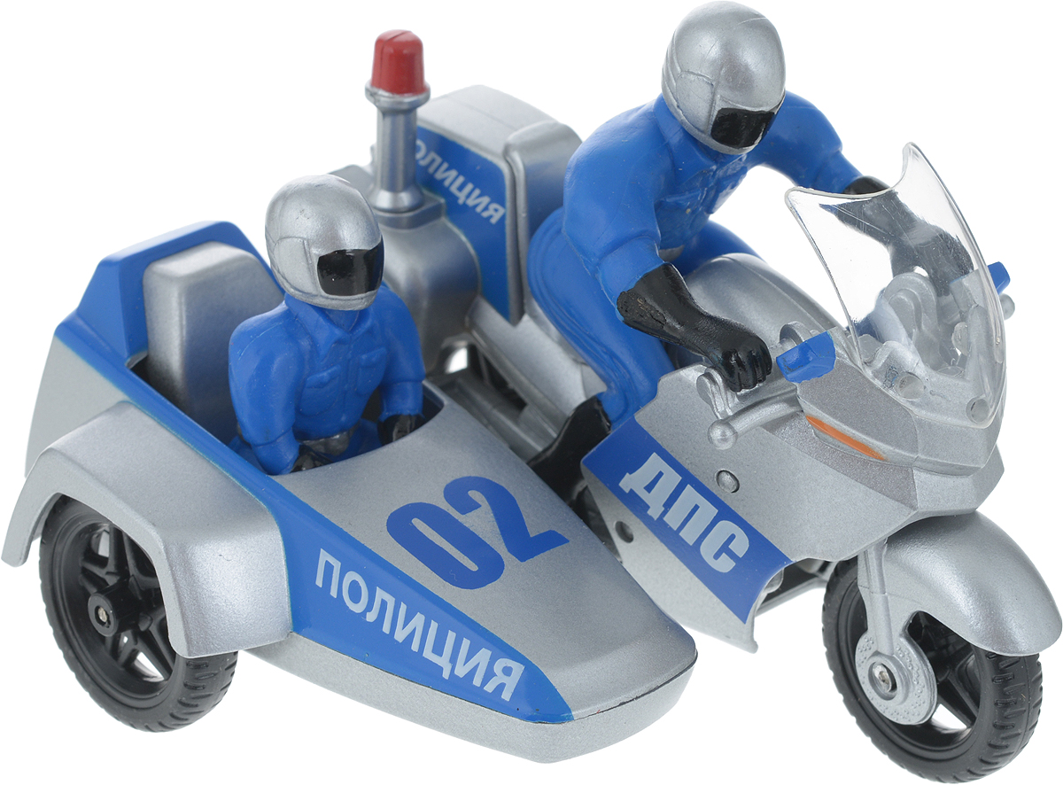 ТехноПарк Мотоцикл Полиция с коляской и фигурками