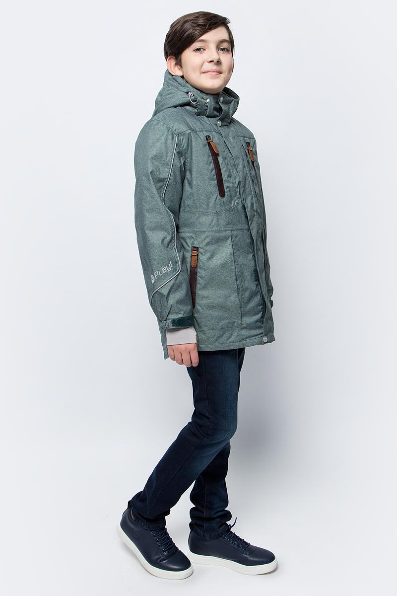 Куртка для мальчика atPlay!, цвет: хаки. 2jk734. Размер 1522jk734Куртка-парка для мальчика от atPlay! — стильный и практичный вариант для зимы с ее непостоянной погодой. Мембранная ткань с показателями 10000/10000 помогает противостоять высокой влажности, ветру и мокрому снегу. Внешний слой ткани обладает грязе- и водоотталкивающей способностью за счет покрытия Teflon. В зимней куртке atPlay! используется самый технологичный на сегодняшний день утеплитель Thinsulate. Его уникальные характеристики позволяют сохранять тепло в 3 раза лучше по сравнению с другими видами утеплителей. Парка дополнена рядом элементов для максимального комфорта в прохладную зимнюю погоду — регулируемый капюшон, мягкий воротник, снегозащитная юбка, утяжка по талии, эластичные манжеты, проклеенные швы. Куртка-парка станет незаменимой и для походов в школу, и на горнолыжном склоне, и на увлекательной прогулке.