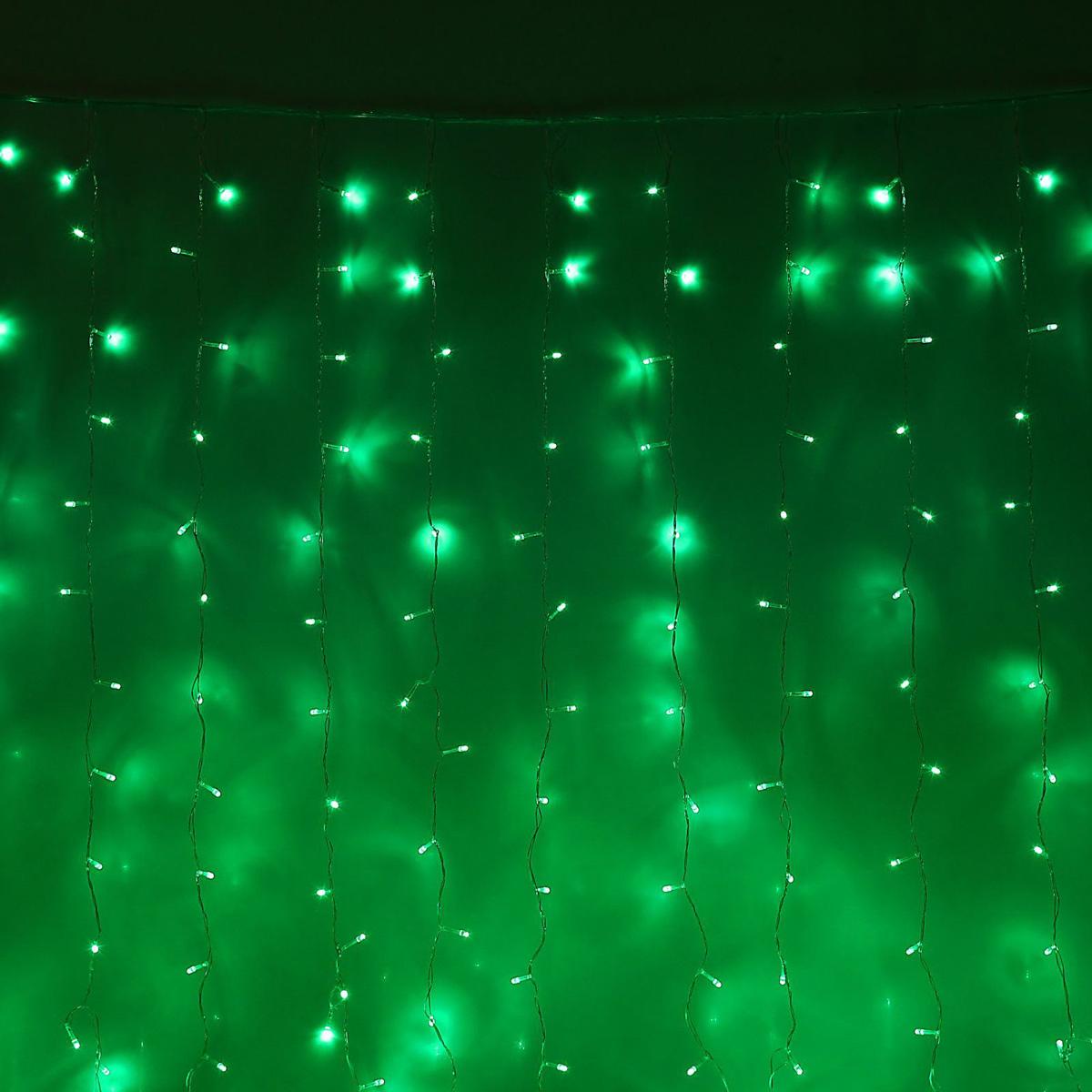 Гирлянда светодиодная Luazon Занавес, цвет: зеленый, 720 ламп, 8 режимов, 220 V, 2 х 3 м. 10804741080474Светодиодные гирлянды и ленты — это отличный вариант для новогоднего оформления интерьера или фасада. С их помощью помещение любого размера можно превратить в праздничный зал, а внешние элементы зданий, украшенные ими, мгновенно станут напоминать очертания сказочного дворца. Такие украшения создают ауру предвкушения чуда. Деревья, фасады, витрины, окна и арки будто специально созданы, чтобы вы украсили их светящимися нитями.