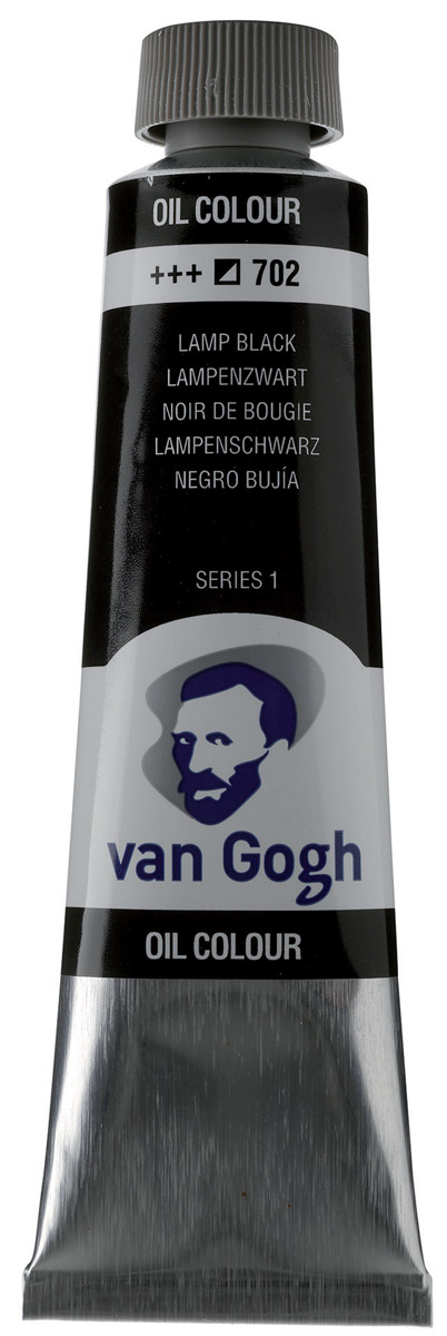 Royal Talens Краска масляная Van Gogh цвет 702 Сажа газовая 40 мл