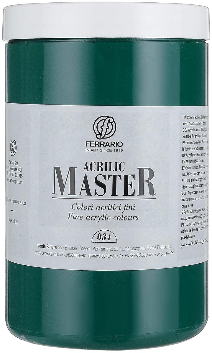 Ferrario Краска акриловая Acrilic Master цвет №34 изумрудно зеленыйBM0979E034Акриловые краски серии Acrilic Master итальянской компании Ferrario. Универсальны в применении, так как хорошо ложатся на любую обезжиренную поверхность: бумага, холст, картон, дерево, керамика, пластик. При изготовлении красок используются высококачественные пигменты мелкого помола. Краска быстро сохнет, обладает отличной укрывистостью и насыщенностью цвета. Работы, сделанные с помощью Acrilic Master, не тускнеют и не выгорают на солнце. Все цвета отлично смешиваются между собой и при необходимости разбавляются водой. Для достижения необходимых эффектов применяют различные медиумы для акриловой живописи.