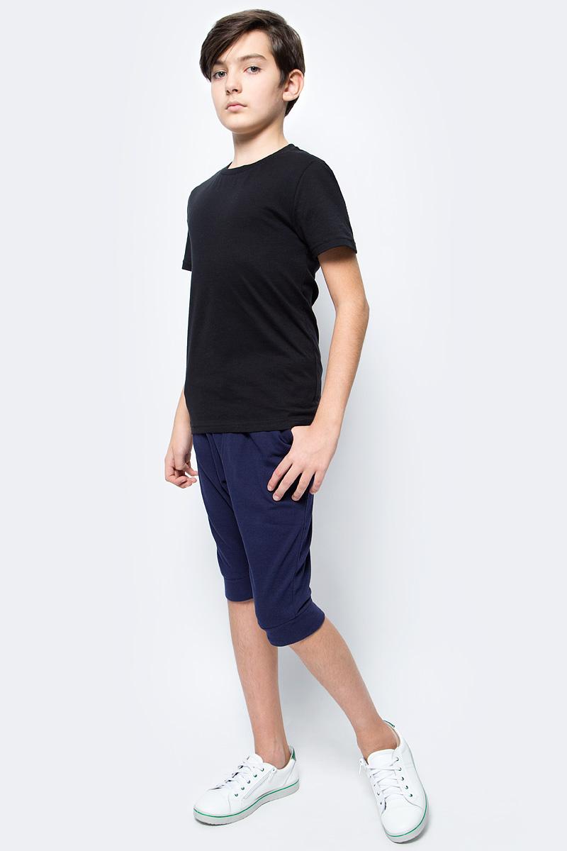 Футболка для мальчика LeadGen, цвет: черный. B913018402-172. Размер 110B913018402-172Футболка для мальчика LeadGen выполнена из натурального хлопкового трикотажа. Модель с короткими рукавами и круглым вырезом горловины спереди оформлена принтом.