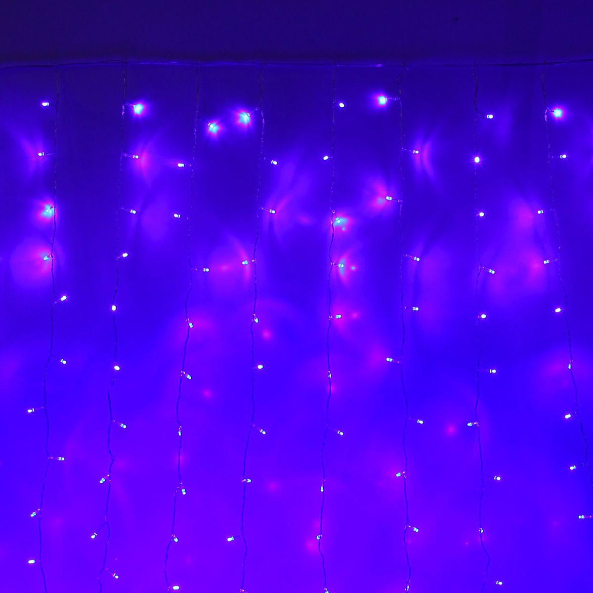 Гирлянда светодиодная Luazon Занавес, цвет: синий, 720 ламп, 8 режимов, 220 V, 2 х 3 м. 10804721080472Светодиодные гирлянды и ленты — это отличный вариант для новогоднего оформления интерьера или фасада. С их помощью помещение любого размера можно превратить в праздничный зал, а внешние элементы зданий, украшенные ими, мгновенно станут напоминать очертания сказочного дворца. Такие украшения создают ауру предвкушения чуда. Деревья, фасады, витрины, окна и арки будто специально созданы, чтобы вы украсили их светящимися нитями.