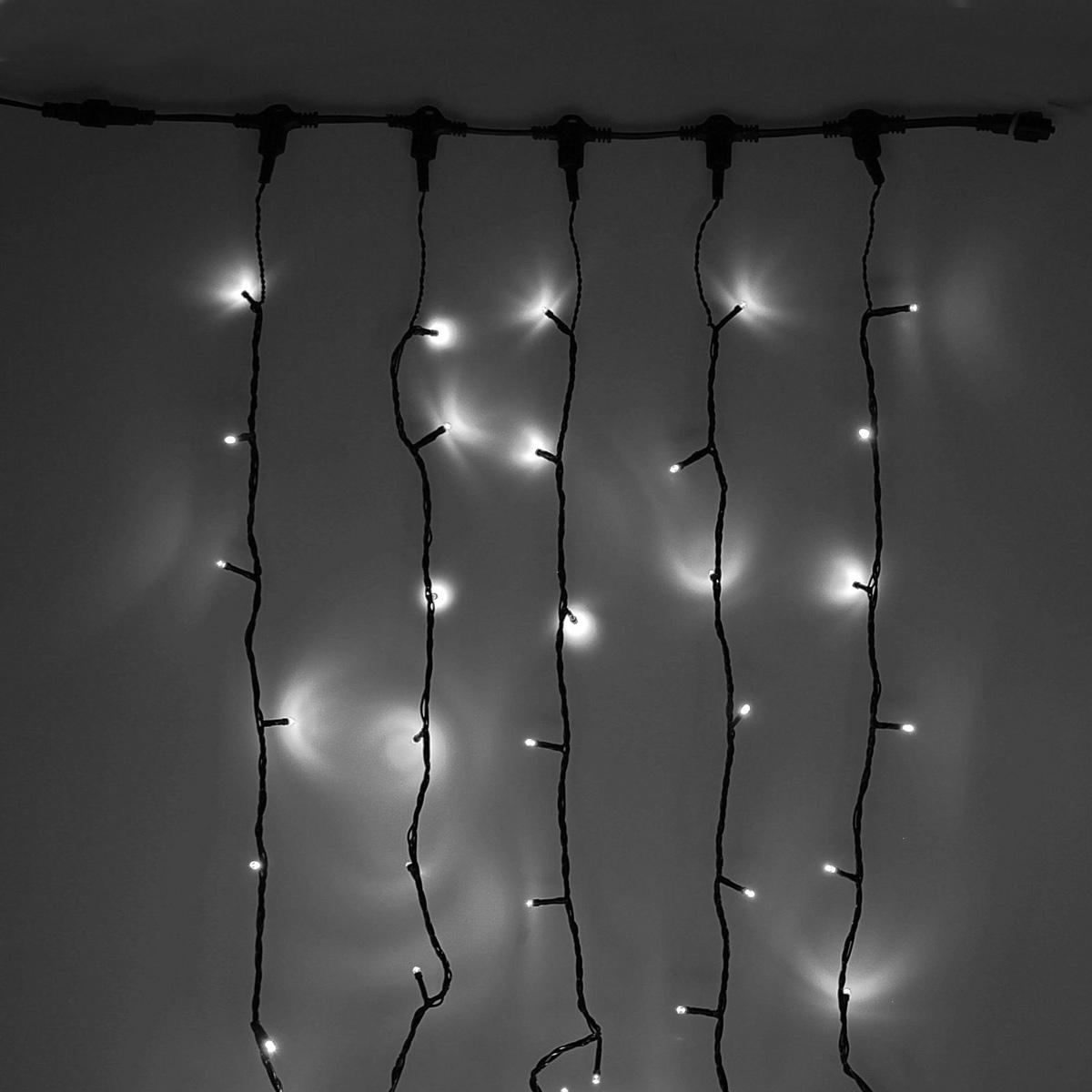 Гирлянда светодиодная Luazon Клип лайт, цвет: белый, уличная, 1000 ламп, 24 V, 5 х 20 м. 15860541586054Светодиодные гирлянды и ленты — это отличный вариант для новогоднего оформления интерьера или фасада. С их помощью помещение любого размера можно превратить в праздничный зал, а внешние элементы зданий, украшенные ими, мгновенно станут напоминать очертания сказочного дворца. Такие украшения создают ауру предвкушения чуда. Деревья, фасады, витрины, окна и арки будто специально созданы, чтобы вы украсили их светящимися нитями.