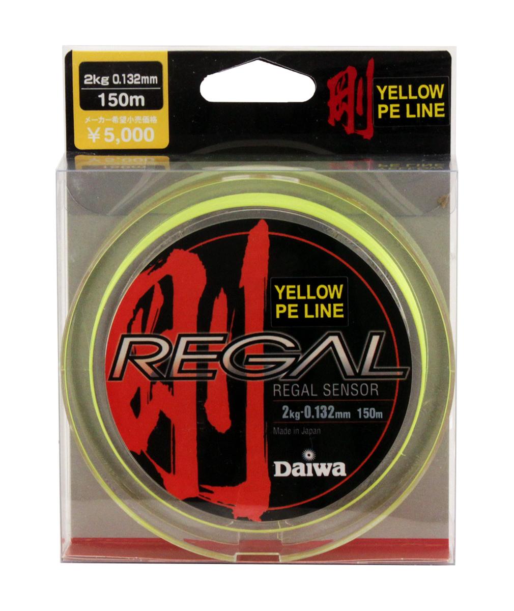 Леска плетеная Daiwa Regal Sensor, цвет: желтый, 0,132 мм, 150 м леска плетеная sufix pe glide master цвет желтый 0 14 мм 135 м 8 4 кг