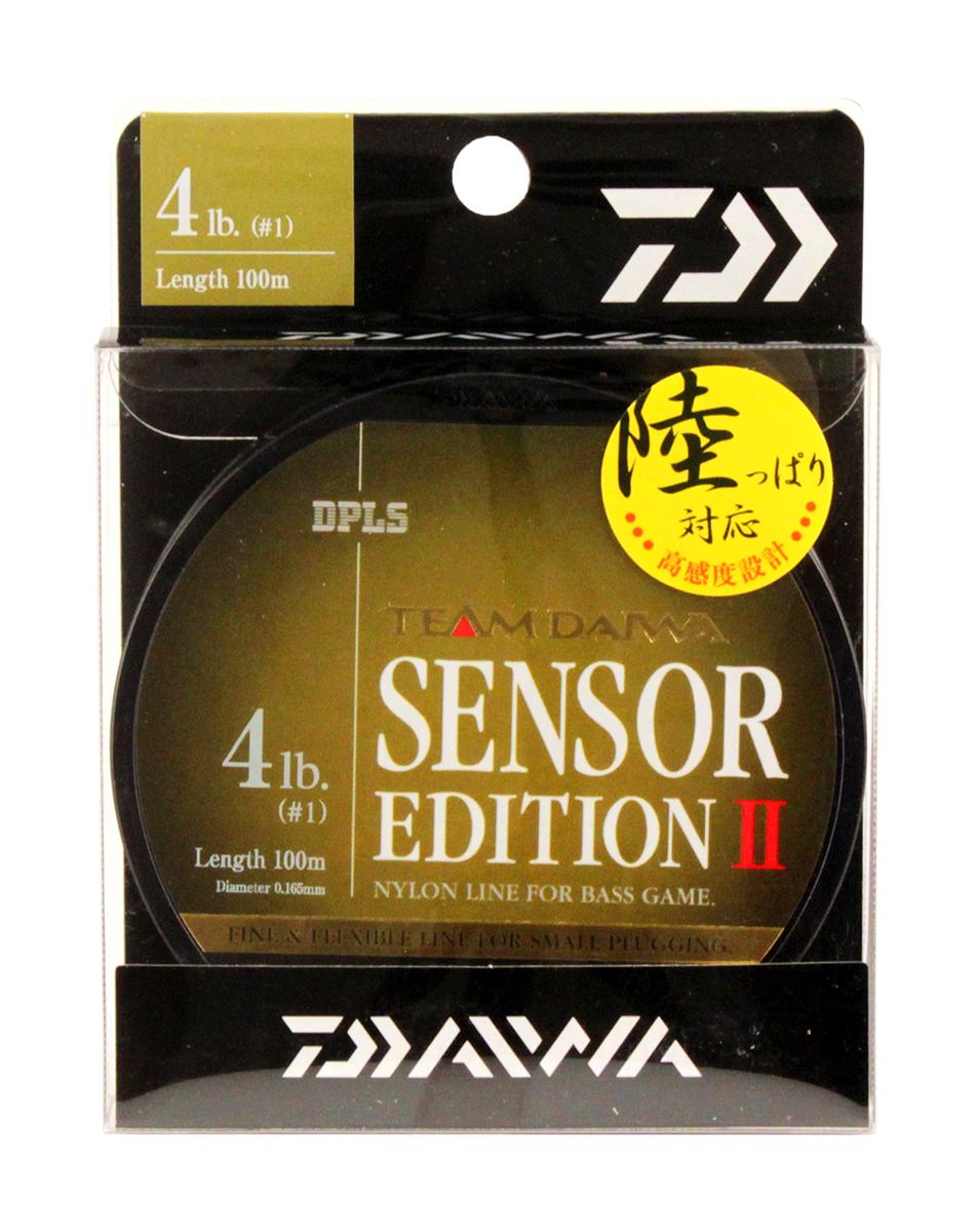 Леска Daiwa TD Sensor Edition II, цвет: оливковый, 4 lb, 100 м0028111Высококачественная монофильная леска Daiwa TD Sensor Edition II имеет оптимальное соотношение чувствительности и эластичности. Низкий коэффициент растяжимости обеспечивает полный контроль над проводкой и надежную подсечку.