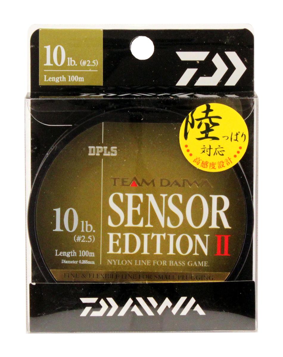 Леска Daiwa TD Sensor Edition II, цвет: оливковый, 10 lb, 100 м0028115Высококачественная монофильная леска Daiwa TD Sensor Edition II имеет оптимальное соотношение чувствительности и эластичности. Низкий коэффициент растяжимости обеспечивает полный контроль над проводкой и надежную подсечку.