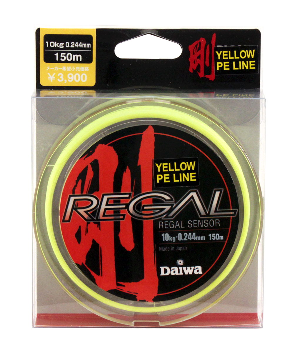 Леска плетеная Daiwa Regal Sensor, цвет: желтый, 0,244 мм, 150 м