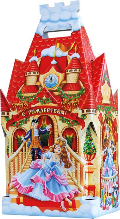 Славянка Детский замок новогодний подарок, 1300 г19277Новогодний подарок из шоколадных конфет известных брендов.