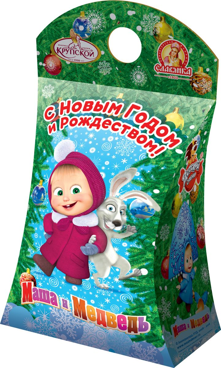 Славянка Сказочная Маша новогодний подарок, 151 г19265Новогодний подарок из шоколадных конфет известных брендов.