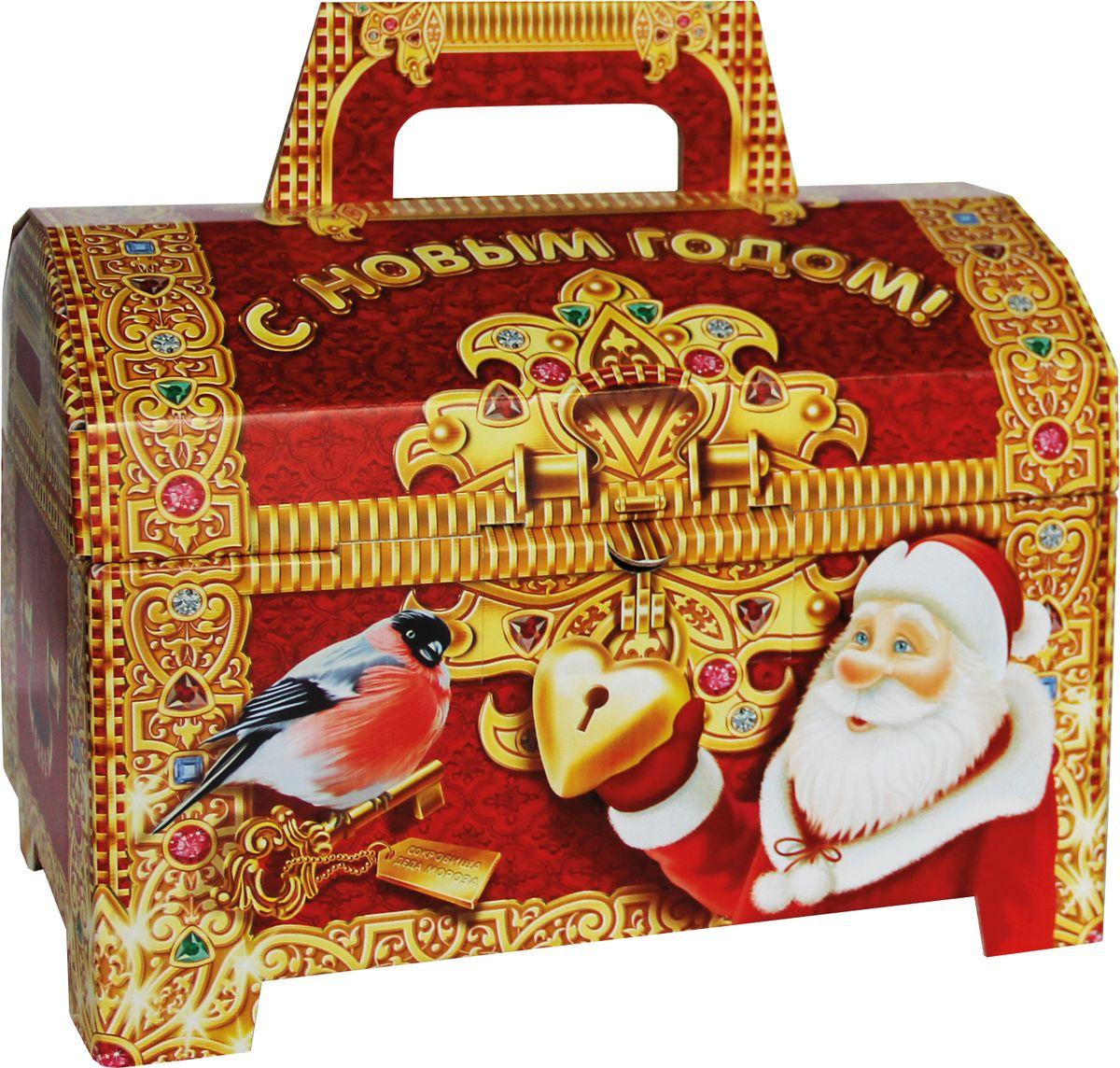 Славянка Детский сундучок новогодний подарок , 654 г19270Новогодний подарок из шоколадных конфет известных брендов.
