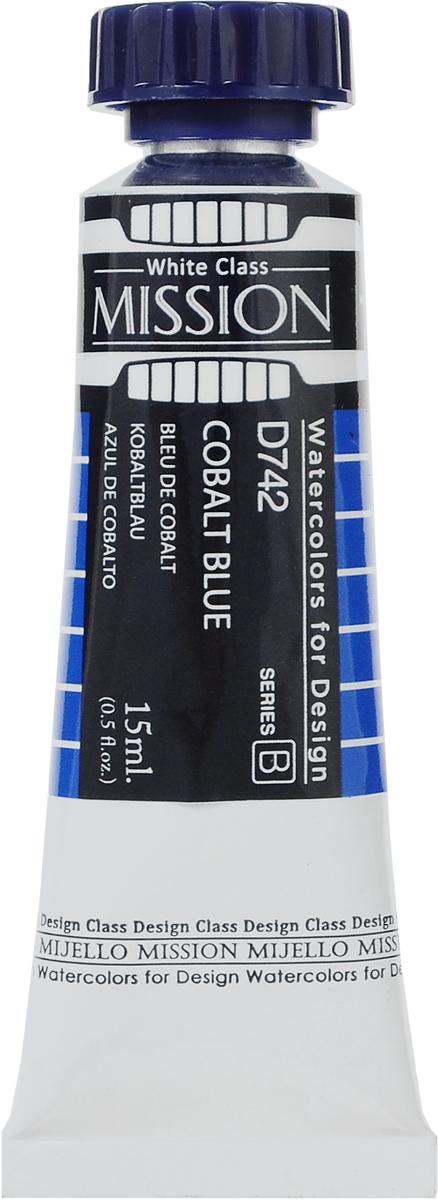 Mijello Акварель Mission White D742 Кобальт синий 15 млMWC-D742Серия акварельных красок Корейского производителя Mijello - Mission White состоит из 51 цвета. Эта серия акварели была создана компанией Mijello в сотрудничестве с экспертами в области акварельной живописи. В этой серии есть два специальных плотных цвета в больших тубах - белый и черный.Смешав акварель с этими цветами, вы получите плотный матовый слой и сможете работать в постерных техниках. Цвета акварели серии Mission White - это смеси высококачественных пигментов тонкого помола с высококачественными компонентами и гуммиарабиком.Используйте краски Mijello серии Mission Gold для акварельной живописи по мокрому, они идеально подойдут для подобной техники работы с акварелью. Акварель Mijello Mission White будет отличным выбором, как начинающему художнику, так и профессионалу.