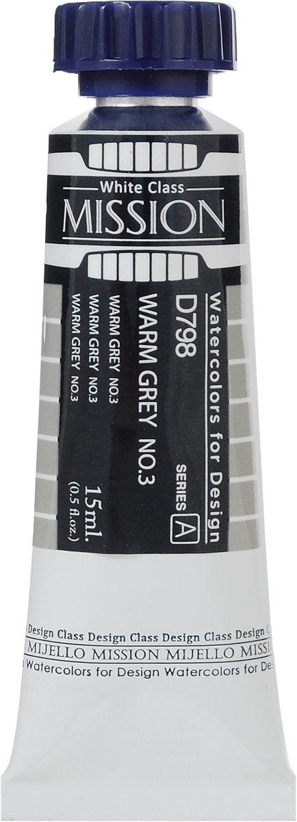 цена Mijello Акварель Mission White D798 Серый теплый №3 15 мл онлайн в 2017 году