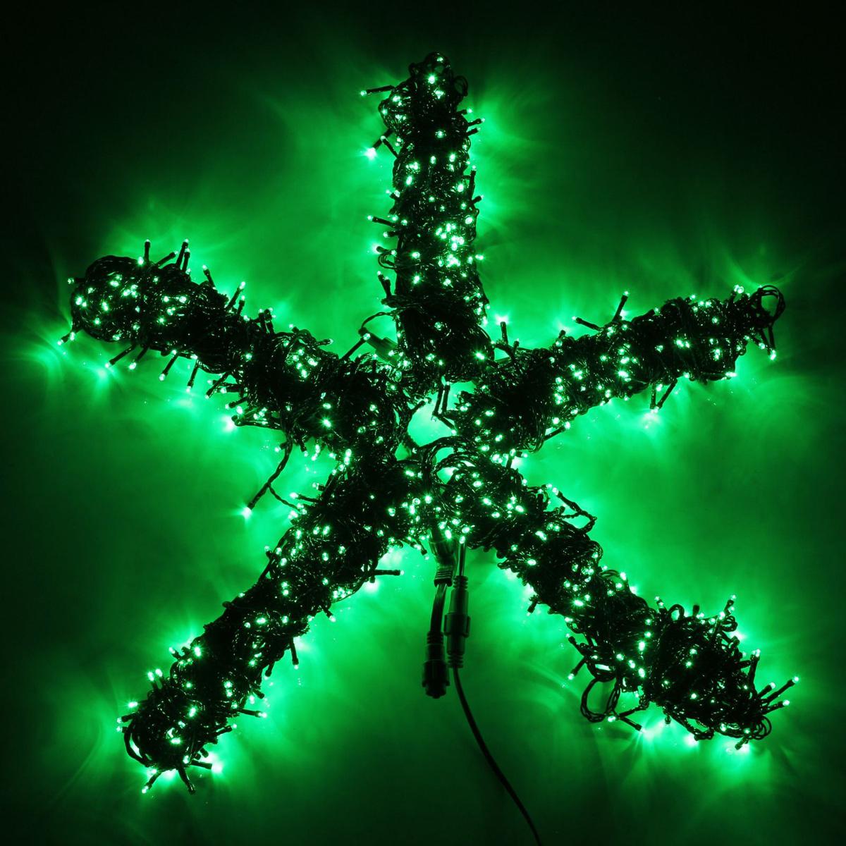 Гирлянда светодиодная Luazon Клип лайт, цвет: зеленый, уличная, 1000 ламп, 24 V, 5 х 20 м. 15860561586056Светодиодные гирлянды и ленты — это отличный вариант для новогоднего оформления интерьера или фасада. С их помощью помещение любого размера можно превратить в праздничный зал, а внешние элементы зданий, украшенные ими, мгновенно станут напоминать очертания сказочного дворца. Такие украшения создают ауру предвкушения чуда. Деревья, фасады, витрины, окна и арки будто специально созданы, чтобы вы украсили их светящимися нитями.