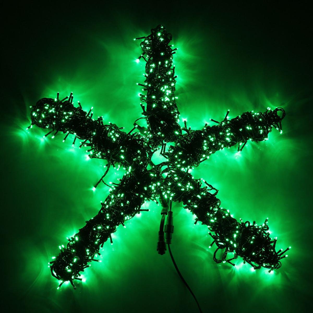 Гирлянда светодиодная Luazon Клип лайт, цвет: зеленый, уличная, 1000 ламп, 24 V, 5 х 20 м. 15860631586063Светодиодные гирлянды и ленты — это отличный вариант для новогоднего оформления интерьера или фасада. С их помощью помещение любого размера можно превратить в праздничный зал, а внешние элементы зданий, украшенные ими, мгновенно станут напоминать очертания сказочного дворца. Такие украшения создают ауру предвкушения чуда. Деревья, фасады, витрины, окна и арки будто специально созданы, чтобы вы украсили их светящимися нитями.