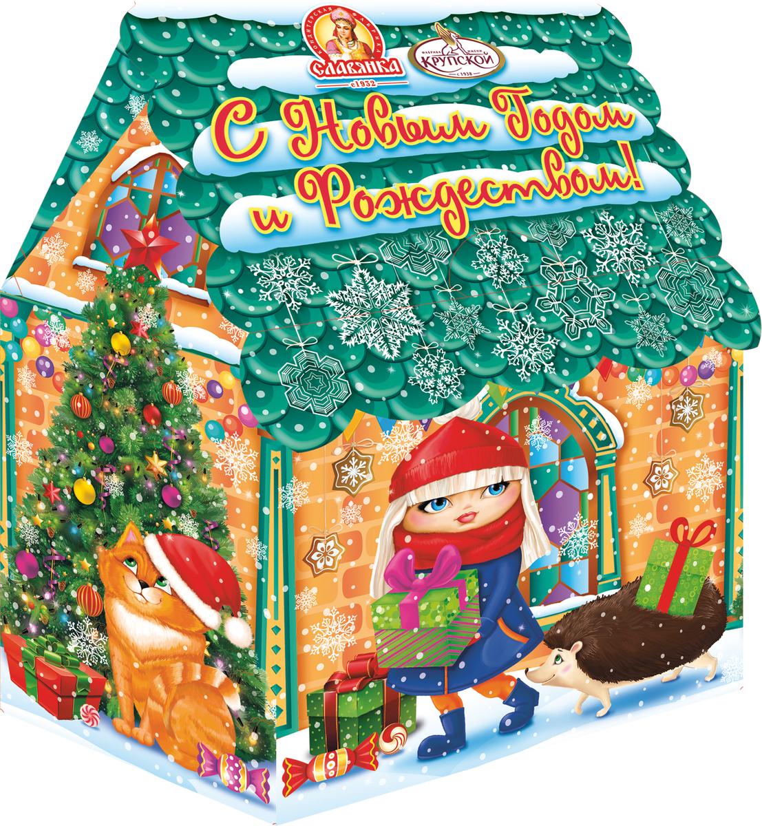 Славянка Сказочный город новогодний подарок, 251 г19266Новогодний подарок из шоколадных конфет известных брендов.
