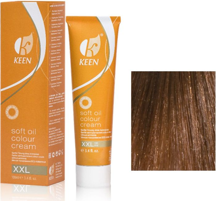 Keen Soft Oil Мягкое тонирование Крем-масло для волос 7.3 Натуральный золотистый блондин Mittelblond Gold, 100 млIS11-05МЯГКОЕ И ЩАДЯЩЕЕ ТОНИРОВАНИЕ: Крем-масло не содержит аммиак. УХОД: Крем-масло разработано на основе масла макадамии и оливкового масла для сохранения и укрепления структуры волос в процессе окрашивания. РЕЗУЛЬТАТ: Блестящие ухоженные волосы насыщенного светящегося цвета.pH: 9,5 – 10,5