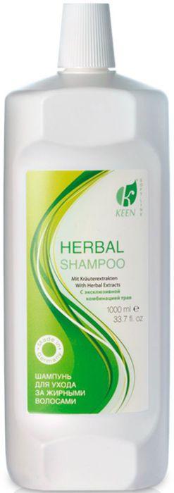 Keen Soft Line Шампунь Травяной, 1000 мл21019191Для волос, склонных к повышенной жирности. Откройте для себя секрет ухоженных волос! Травяной шампунь с эксклюзивной комбинацией трав розмарин, шалфей, ромашка, хвощ, мелисса особенно эффективен для ухода за волосами, склонными к повышенной жирности. Содержащиеся в травах активные действующие вещества оказывают регулирующее действие на функции сальных желез, не разрушая природную защитную функцию. Шампунь не содержит парабены и силиконы.