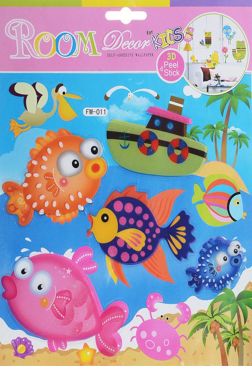 Room Decor Наклейка 3D Для малышей Рыбки -  Детская комната