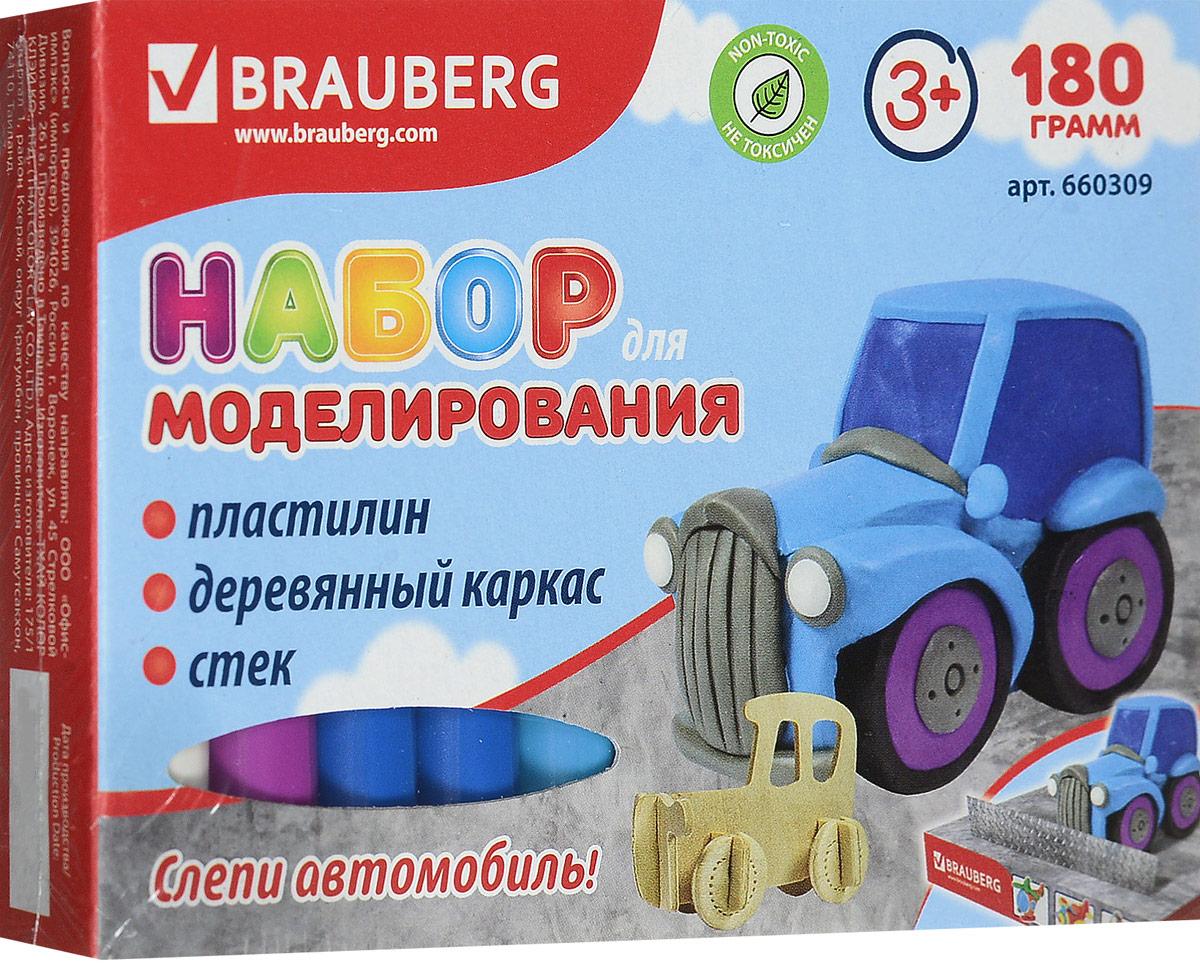 Brauberg Пластилин 10 цветов + заготовка Транспортное средство Автомобиль660309_автомобильНабор Brauberg состоит из пластилина высокого качества ярких цветов, сборной деревянной основы и стека. Способствует развитию мелкой моторики, пространственного воображения, а также дарит много положительных эмоций.
