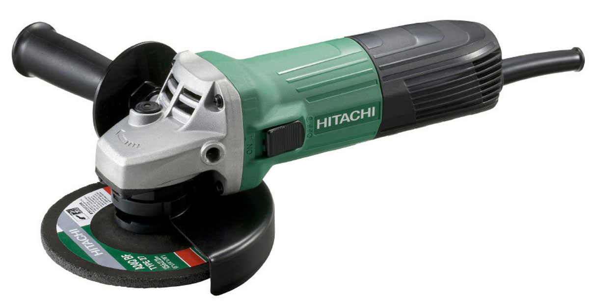 Шлифмашина угловая Hitachi G13SS2 с алмазным диском Carat шлифмашина угловая hitachi g13ss