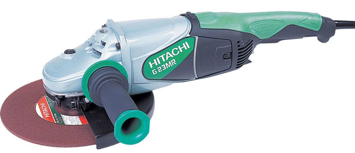 Шлифмашина угловая Hitachi G23MRHTC-G23MRУгловая шлифовальная машина Hitachi - электроинструмент, предназначенный для резки и обработки бетона, кирпича, шифера, стальных труб, мрамора и других твердых прочных материалов. С помощью угловой шлифовальной машины производится демонтаж конструкций из металла и сплавов, очистка и шлифовка поверхностей и др. Болгарка Hitachi оснащена специальным защитным кожухом, который предохраняет оператора от возможного отлетания частиц обрабатываемого материала или диска, что повышает безопасность работы данным инструментом.Модель поставляется с алмазным диском Carat.